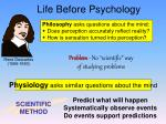 life before psychology
