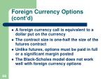 foreign currency options cont d1