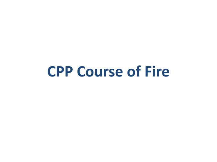 cpp course of fire n.