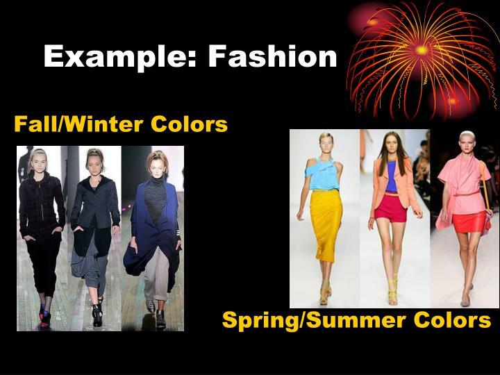 Example: Fashion