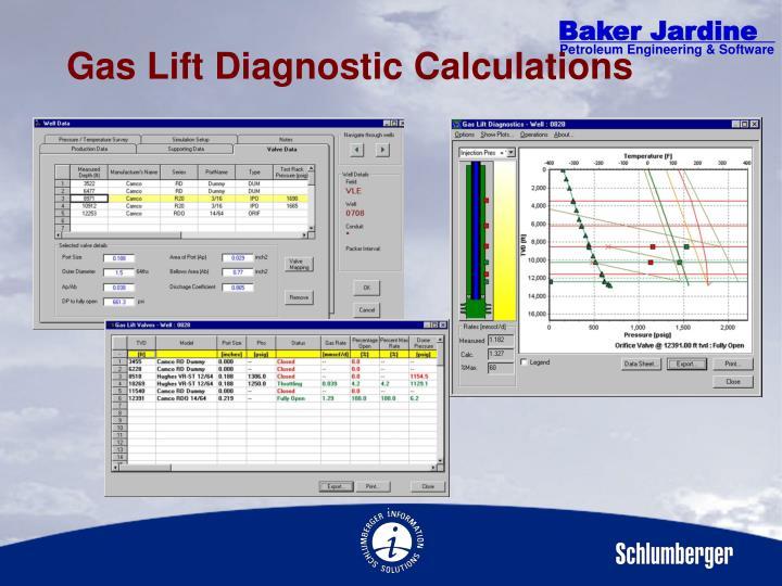 Gas Lift Diagnostic Calculations