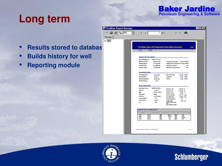 Results stored to database