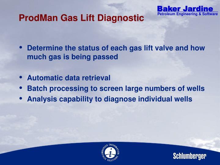ProdMan Gas Lift Diagnostic
