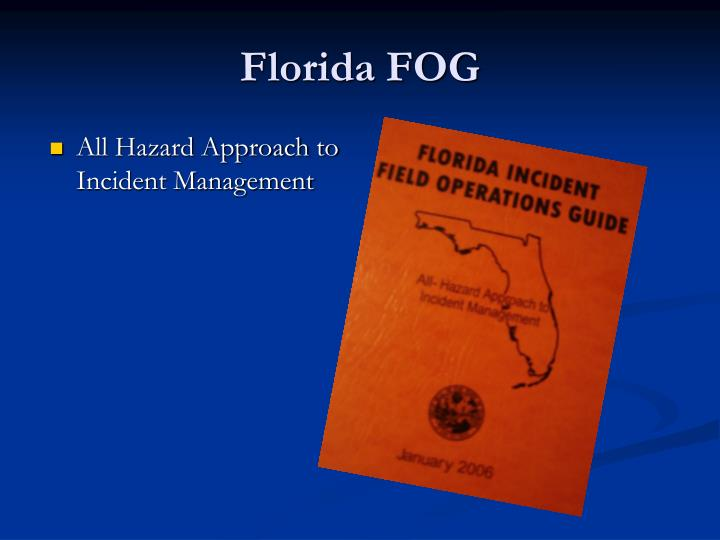 All Hazard Approach to Incident Management