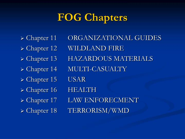 FOG Chapters
