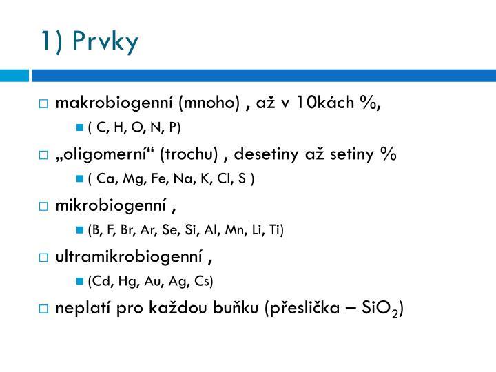 1 prvky