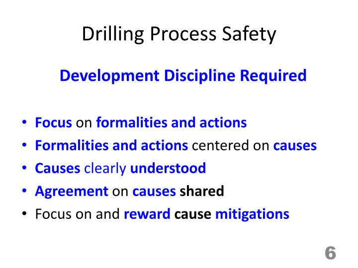 Drilling Process Safety