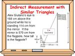 indirect measurement with similar triangles1