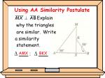 using aa similarity postulate