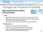 changes for physician practices