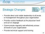 strategic changes