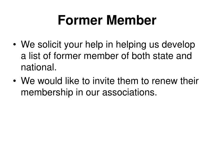 Former Member