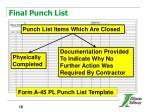 final punch list
