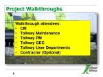 project walkthroughs