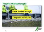 project walkthroughs1