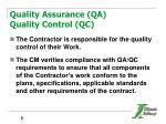 quality assurance qa quality control qc