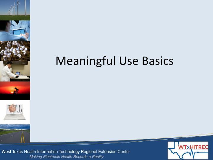 Meaningful Use Basics