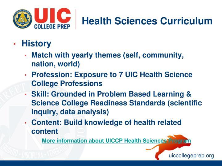 Health Sciences Curriculum
