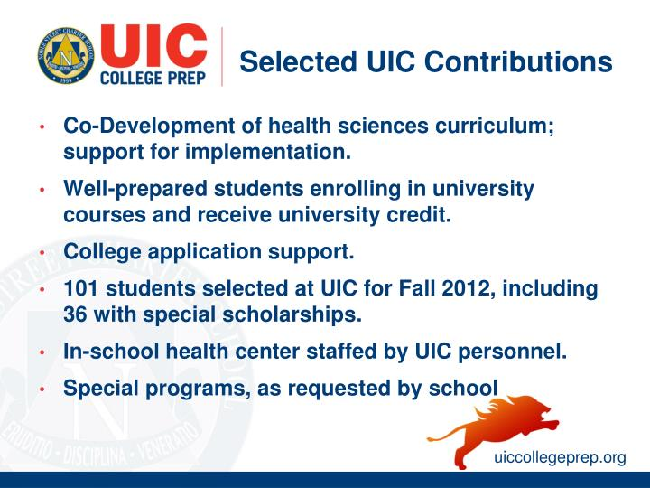 Selected UIC Contributions