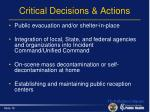 critical decisions actions