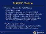 marrp outline