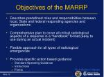 objectives of the marrp