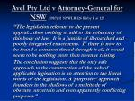 avel pty ltd v attorney general for nsw 1987 11 nswlr 126 kirby p at 127