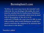 bermingham s case