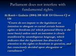 parliament does not interfere with fundamental rights