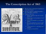 the conscription act of 1863