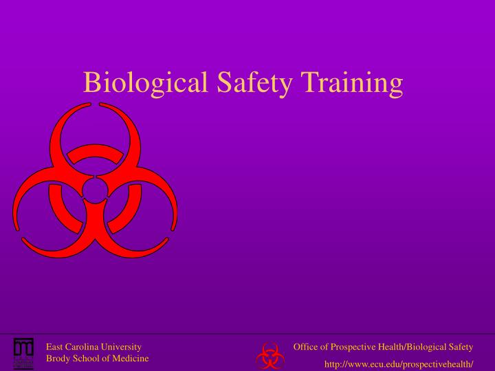 biological safety training n.