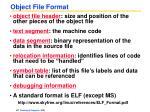 object file format