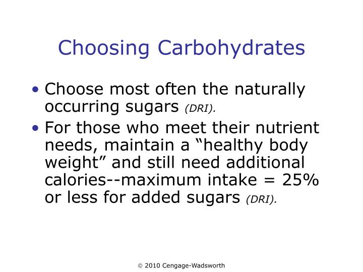 Choosing Carbohydrates