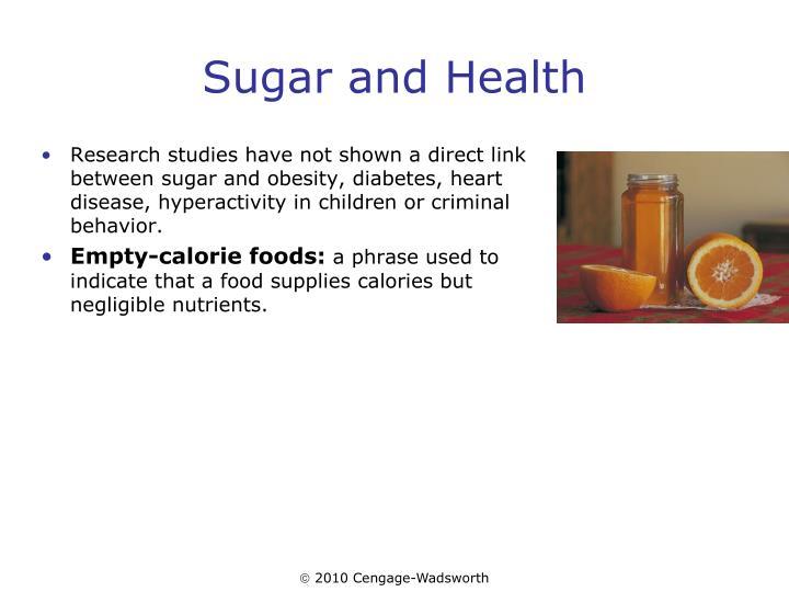 Sugar and Health
