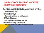 issue school rules do not keep order and discipline1
