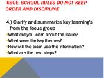 issue school rules do not keep order and discipline2