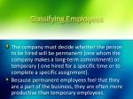 classifying employees