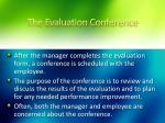 the evaluation conference