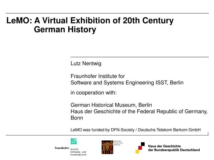 lemo a virtual exhibition of 20th century german history n.