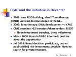 cpac and the initiative in deventer