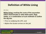 definition of white lining
