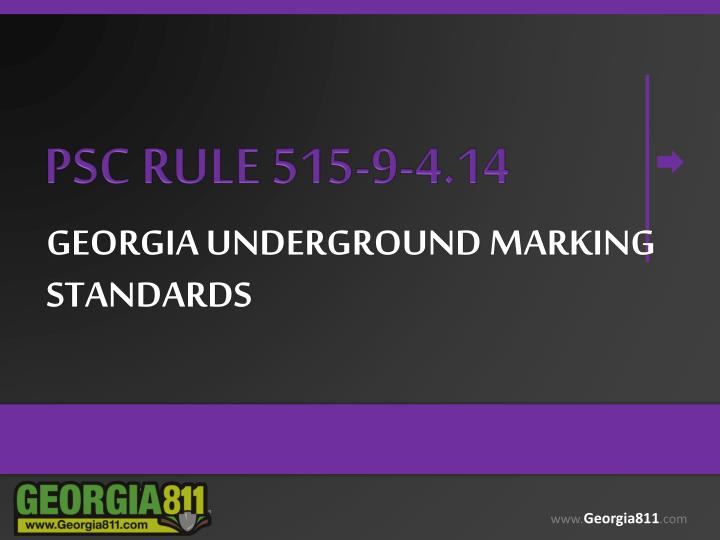 georgia underground marking standards n.