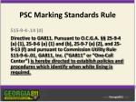 psc marking standards rule