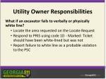 utility owner responsibilities