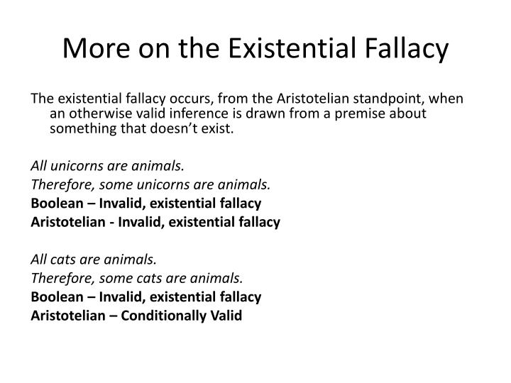 More on the Existential Fallacy