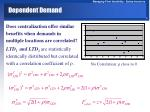 dependent demand