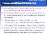 postponement delayed differentiation