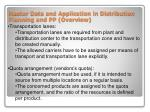 master data and application in distribution planning and pp overview