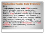 production master data overview1