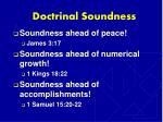 doctrinal soundness
